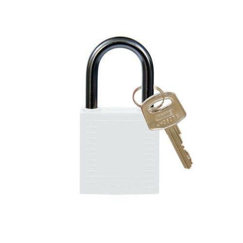 Nylon compact veiligheidshangslot wit 814122