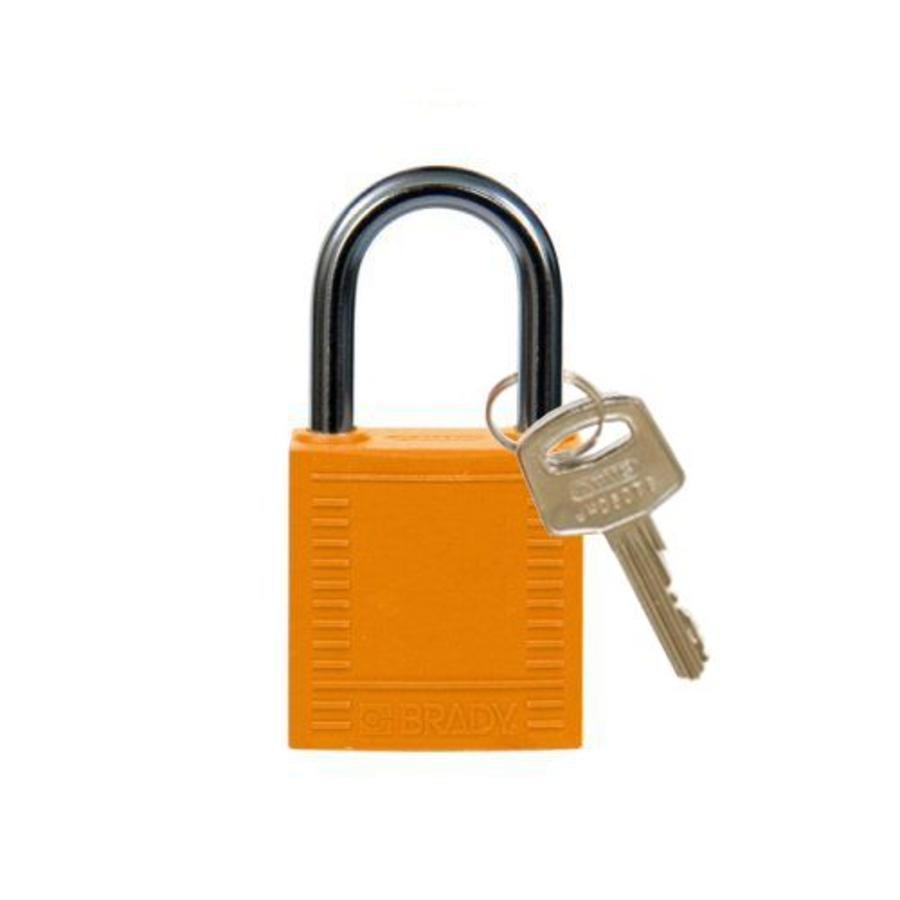 Nylon compact veiligheidshangslot oranje 814119