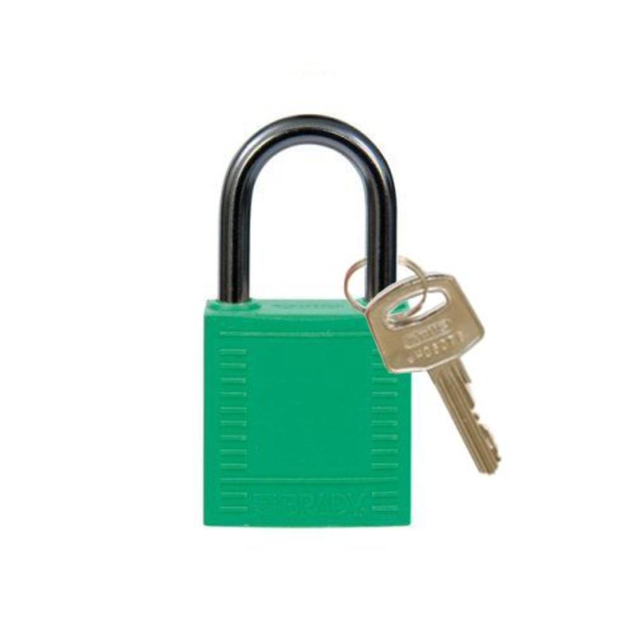 Nylon compact veiligheidshangslot groen 814118