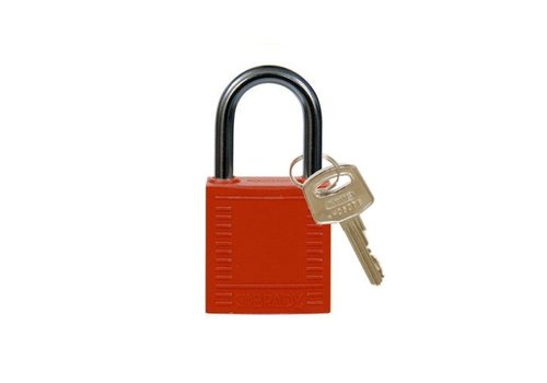 Nylon compact safety padlock red 814116