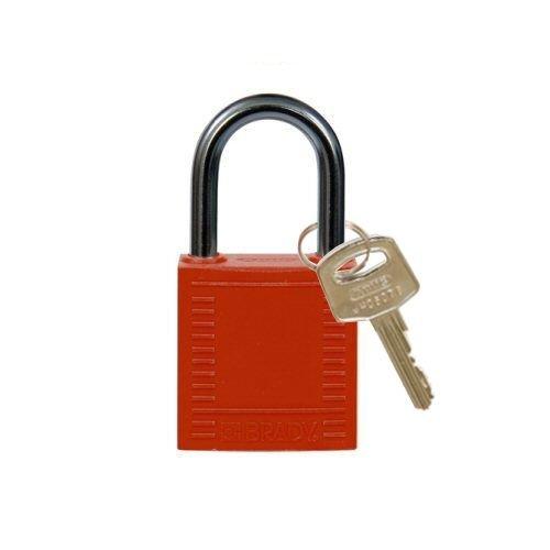 Nylon Kompakte Sicherheits-vorhängeschloss rot 814116