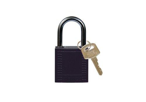 Nylon compact safety padlock black 814115