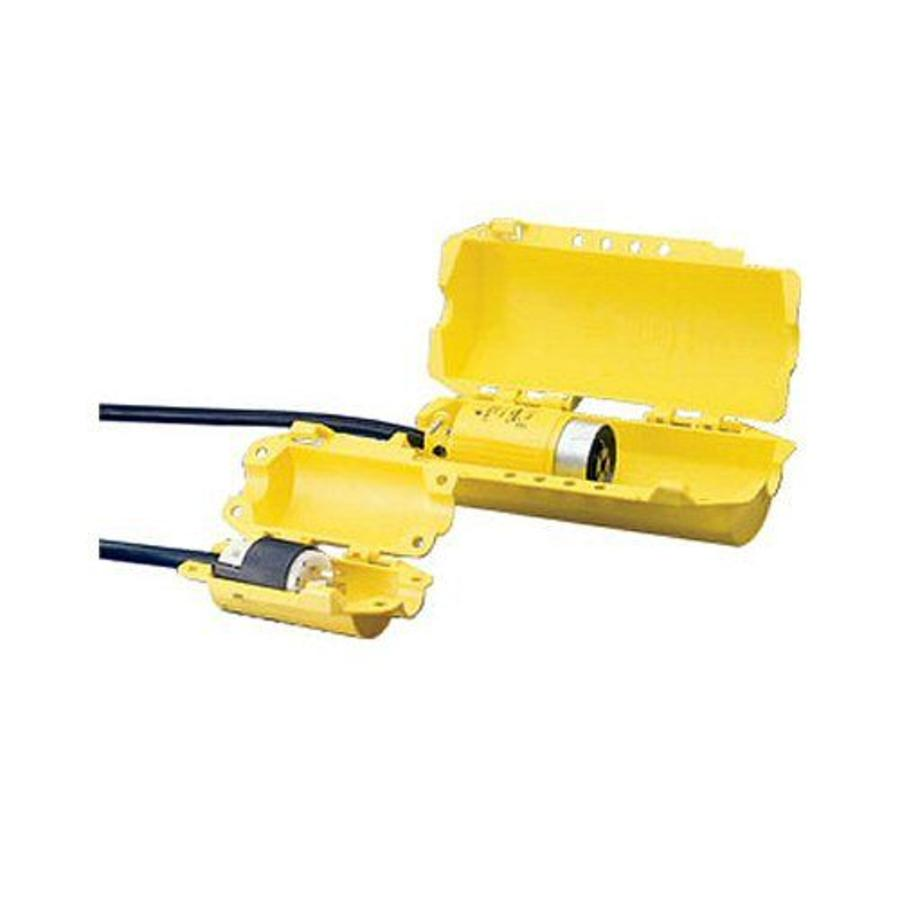 Lock-out device for industrial plugs 065695-065968