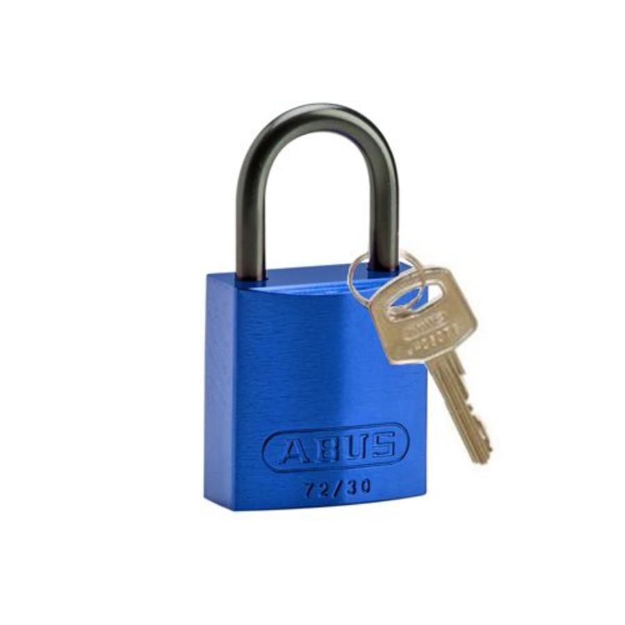 Sicherheitsvorhängeschloss aus eloxiertes Aluminium blau 834856