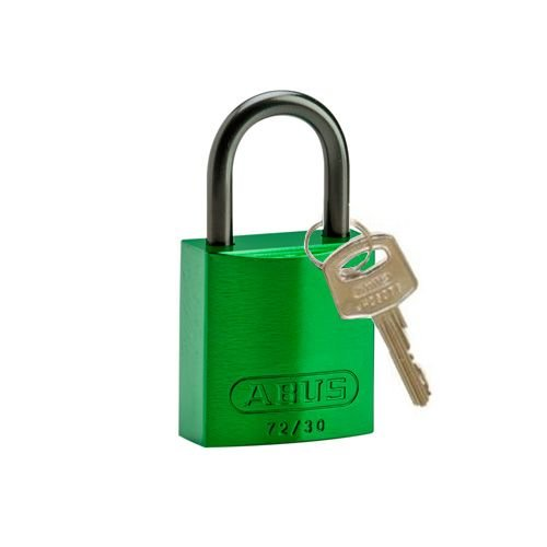 Anodized aluminium safety padlock green 834860