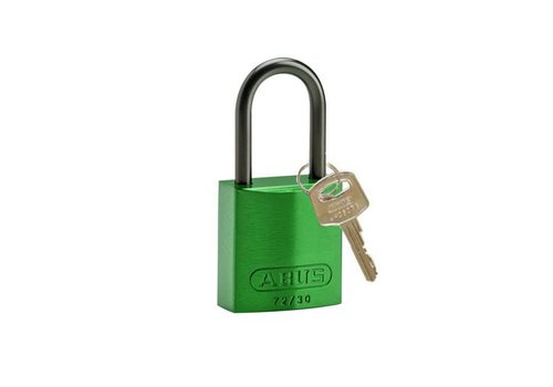 Anodized aluminium safety padlock green 834866