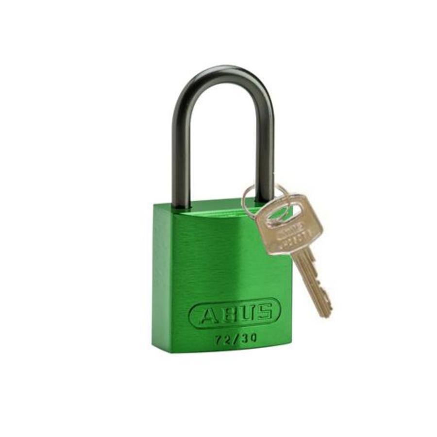 Geanodiseerd aluminium veiligheidshangslot groen 834866