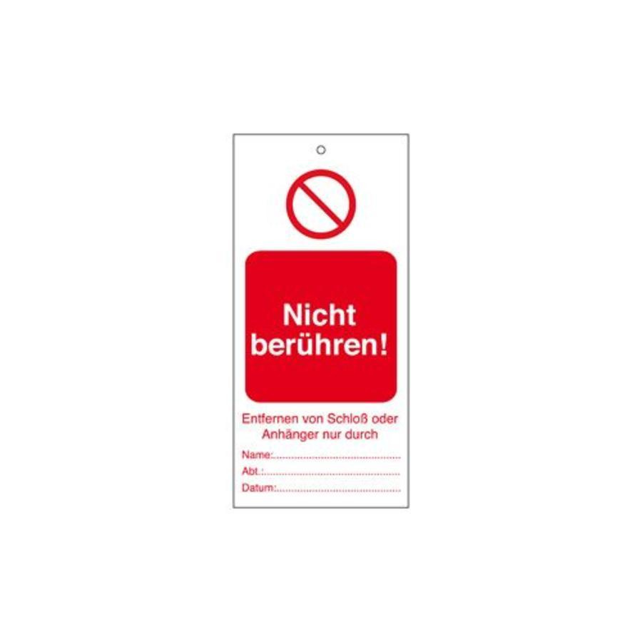 Warning tags German