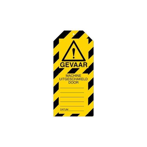Warning tags danger Dutch