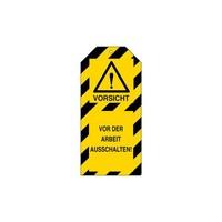 Warning tags danger German