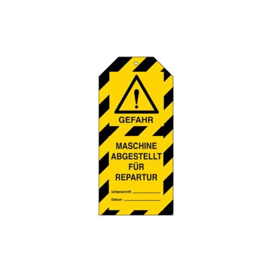 Anhänger für Warnhinweise Gefahr Deutsch
