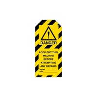 Anhänger für Warnhinweise Gefahr Englisch