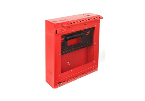 Wall mountable group lockout box S3502