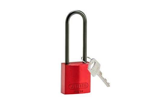 Anodized aluminium safety padlock red 834876