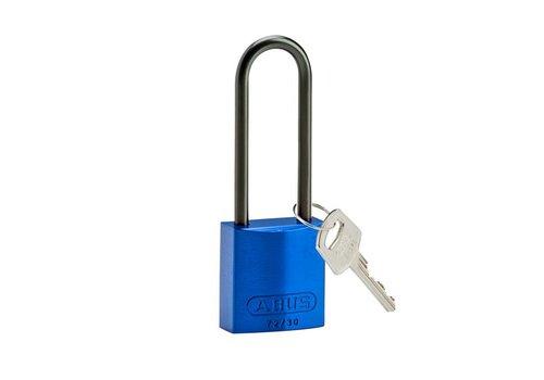Geanodiseerd aluminium veiligheidshangslot blauw 834874