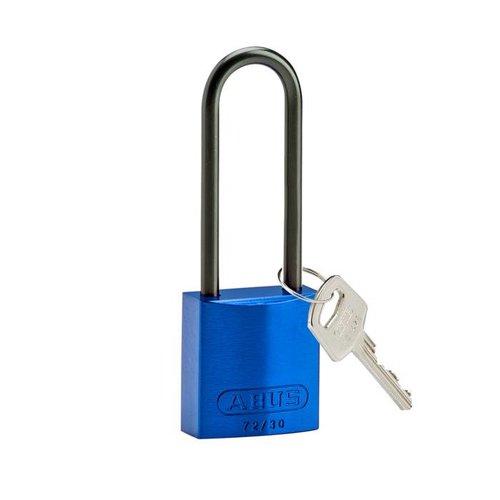 Sicherheitsvorhängeschloss aus eloxiertes Aluminium blau 834874