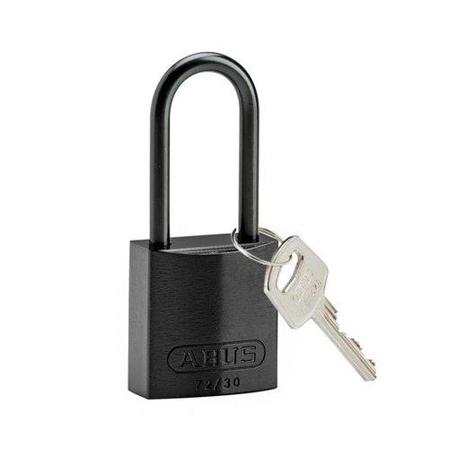 Sicherheitsvorhängeschloss aus eloxiertes Aluminium schwarz 834869
