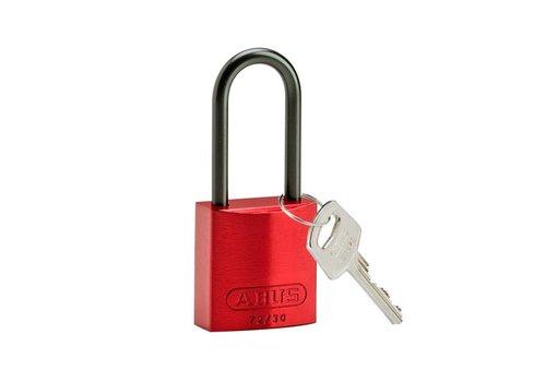 Geanodiseerd aluminium veiligheidshangslot rood 834870