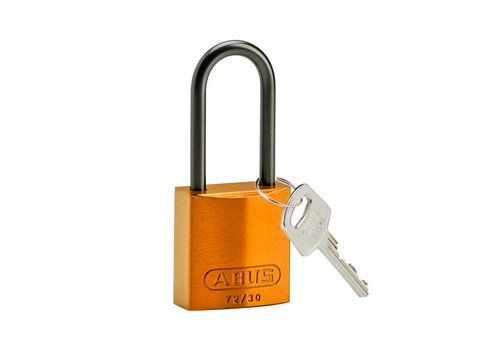 Anodized aluminium safety padlock orange 834873