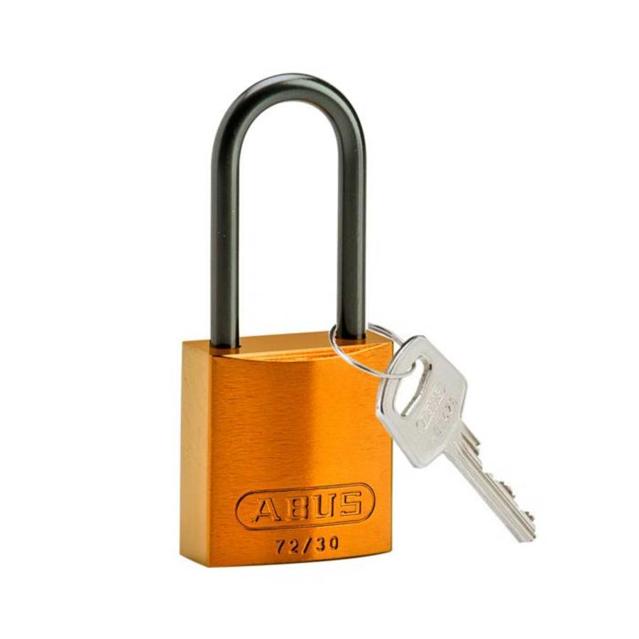 Anodized aluminium safety padlock orange 834873