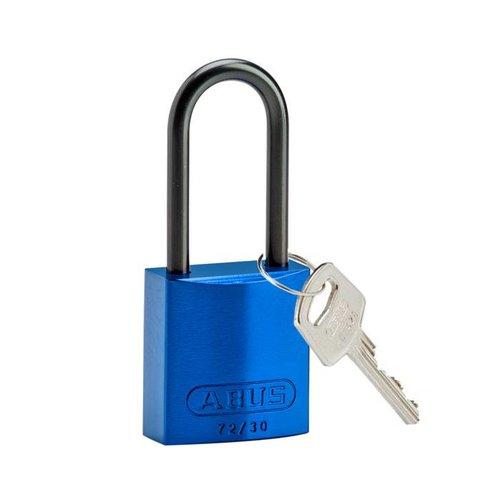 Geanodiseerd aluminium veiligheidshangslot blauw 834868