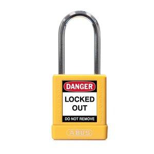 Abus Aluminium veiligheidshangslot met gele cover 77567