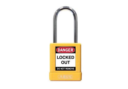 Aluminium veiligheidshangslot met gele cover 74BS/40 geel