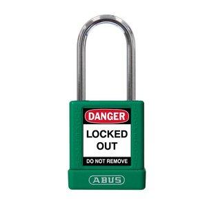 Abus Aluminium Sicherheits-vorhängeschloss mit grüner Abdeckung 77570