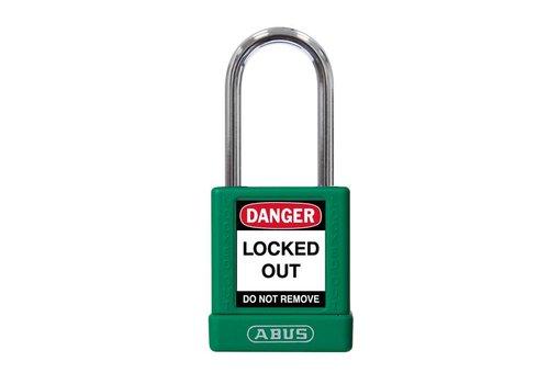 Aluminium veiligheidshangslot groene cover 74BS/40 groen