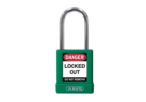 Aluminum safety padlock with green  cover 74BS/40 green