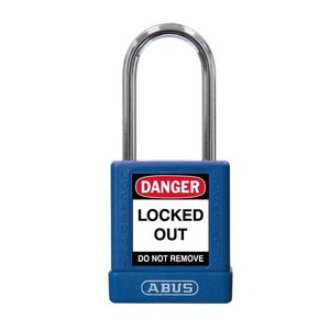 Abus Aluminum safety padlock with blue  cover 74BS/40 BLAU