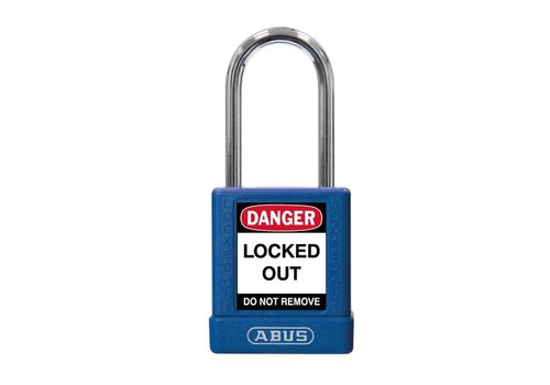 Aluminium Sicherheits-vorhängeschloss mit blaue Abdeckung 74BS/40 blau