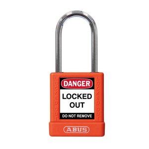 Abus Aluminum safety padlock with orange cover 77572