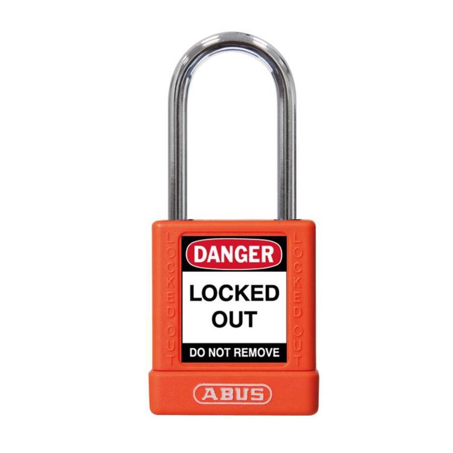 Aluminum safety padlock with orange cover 74BS/40 ORANGE