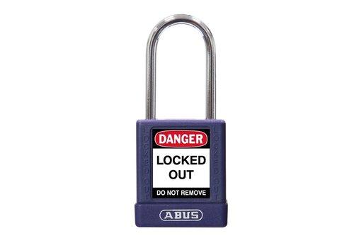 Aluminium veiligheidshangslot met paarse cover 74BS/40 paars