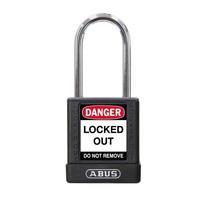 Aluminium veiligheidshangslot met zwarte cover 77575