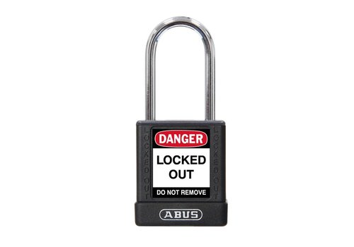 Aluminum safety padlock with black  cover 74BS/40 black
