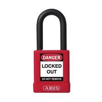 Aluminium veiligheidshangslot met rode cover 59108
