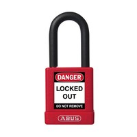 Aluminum safety padlock with red cover 74/40 ROT