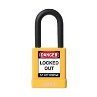 Aluminium veiligheidshangslot met gele cover 59110