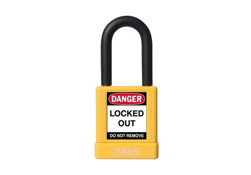 Aluminum safety padlock with yellow cover 74/40 yellow