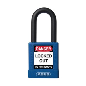 Abus Aluminium Sicherheits-vorhängeschloss mit blaue Abdeckung 59109