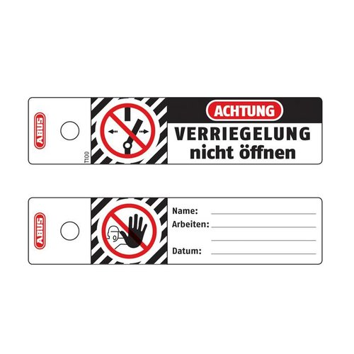 Polypropylen Safety tags T100