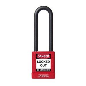 Abus Aluminium Sicherheits-vorhängeschloss mit rotes Abdeckung 74/40HB75 ROT