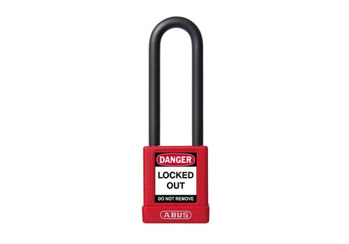 Aluminum safety padlock with red cover 74/40HB75 red
