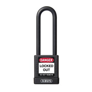 Abus Aluminum safety padlock with back cover 74/40HB75 SCHWARZ