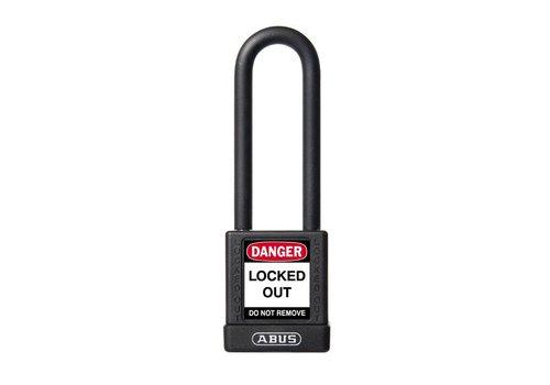 Aluminium veiligheidshangslot met zwarte cover 74/40HB75 zwart