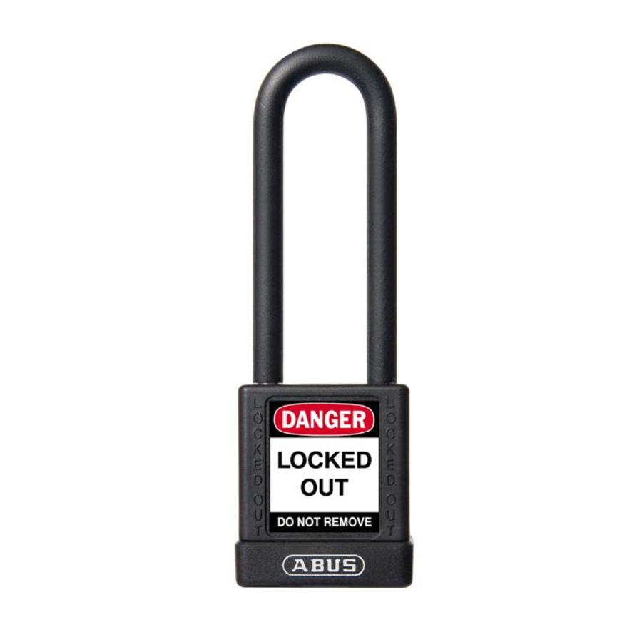 Aluminium veiligheidshangslot met zwarte cover 58980