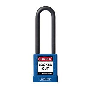 Abus Aluminium Sicherheits-vorhängeschloss mit blaue Abdeckung 74/40HB75 BLAU