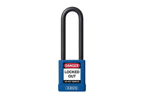Aluminum safety padlock with blue cover 74/40HB75 BLAU